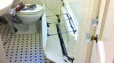 What is reglazing cincinnati bath restoration for Bathtub liner problems