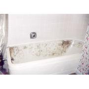BEFORE - Burned bathtub