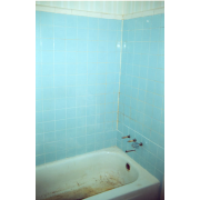 BEFORE - Outdated tile with mold